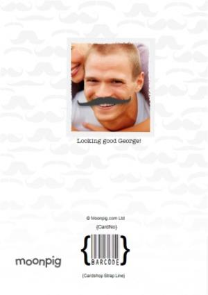 Greeting Cards - Is That A Moustache Personalised Photo Upload Birthday Card - Image 4