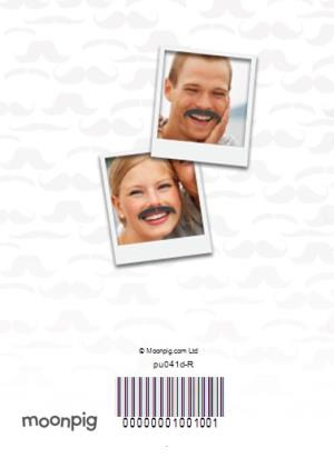 Greeting Cards - I Really Moustache You Photo Upload Card - Image 4
