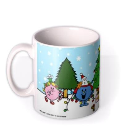 Mugs - Little Miss Christmas Scene Personalised Mug - Image 1