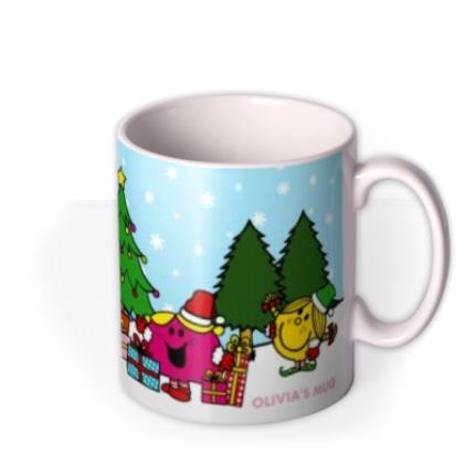 Mugs - Little Miss Christmas Scene Personalised Mug - Image 2