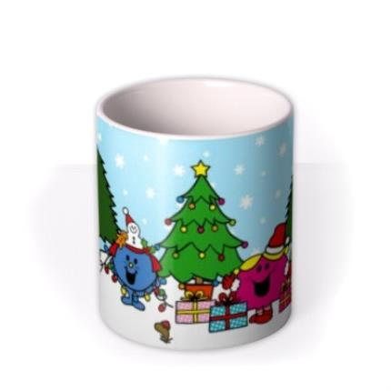 Mugs - Little Miss Christmas Scene Personalised Mug - Image 3