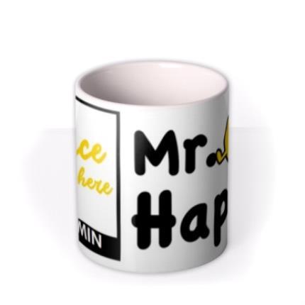 Mugs - Mr Men Mr Happy Photo Upload Mug - Image 3