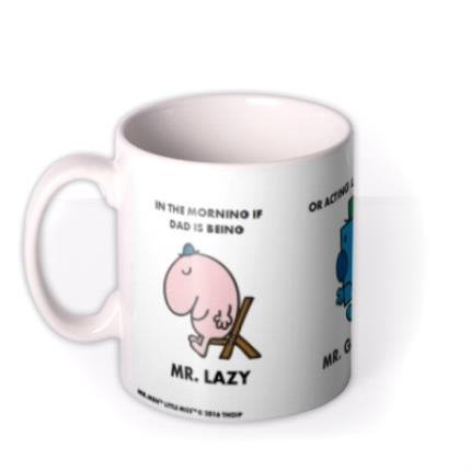 Mugs - Mr Men Mr Lazy, Mr Grumpy Turns Into Mr Happy Personalised Mug - Image 1