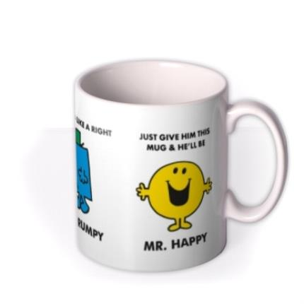 Mugs - Mr Men Mr Lazy, Mr Grumpy Turns Into Mr Happy Personalised Mug - Image 2