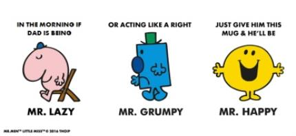 Mugs - Mr Men Mr Lazy, Mr Grumpy Turns Into Mr Happy Personalised Mug - Image 4