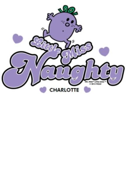 T-Shirts - Little Miss Naughty Personalised T-Shirt - Image 4