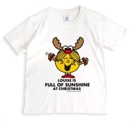 T-Shirts - Merry Christmas Little Miss Sunshine Personalised T-shirt - Image 1