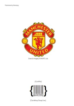 Greeting Cards - Manchester United No 1 Fan Football Shirt Birthday Card - Image 4