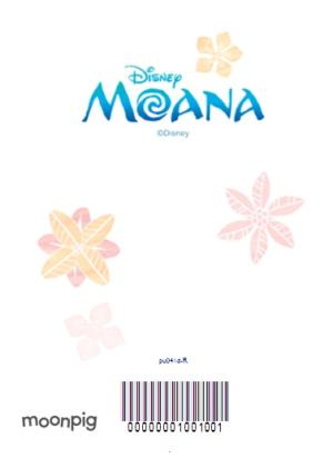 Greeting Cards - Moana 5th Birthday Card - Personalised With A Name - Image 4