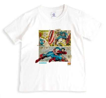 T-Shirts - Marvel Captain America Comic Personalised T-shirt - Image 1