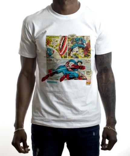 T-Shirts - Marvel Captain America Comic Personalised T-shirt - Image 2