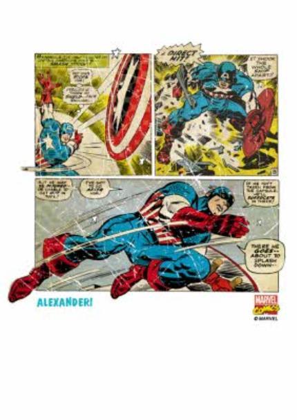 T-Shirts - Marvel Captain America Comic Personalised T-shirt - Image 4