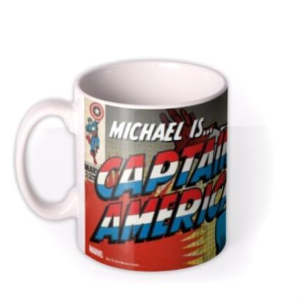 Mugs - Marvel Comics Captain America Photo Upload Mug - Image 1