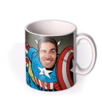 Mugs - Marvel Comics Captain America Photo Upload Mug - Image 2