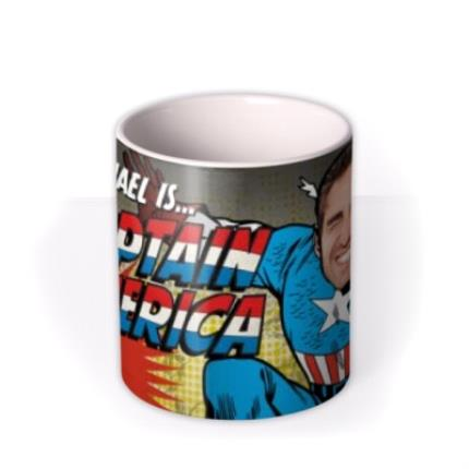 Mugs - Marvel Comics Captain America Photo Upload Mug - Image 3