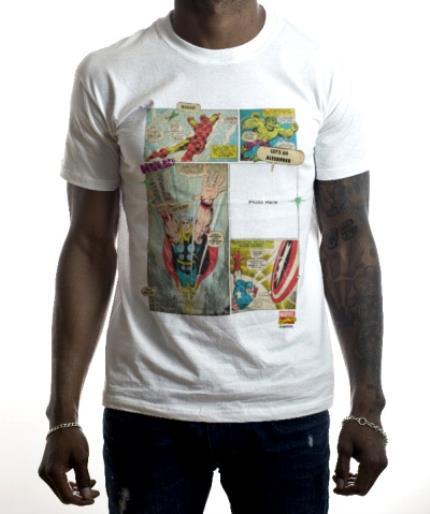 T-Shirts - Marvel The Avengers Retro Comic Photo Upload T-shirt - Image 2