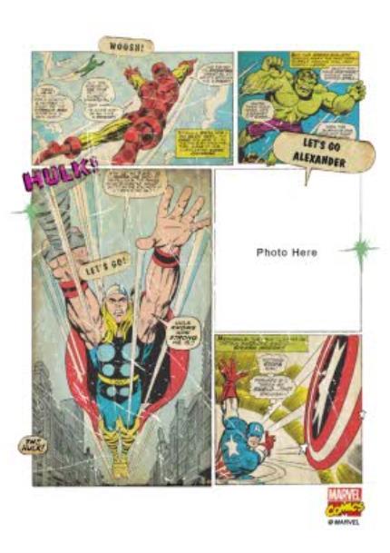 T-Shirts - Marvel The Avengers Retro Comic Photo Upload T-shirt - Image 4