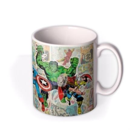 Mugs - Marvel The Avengers Comic Book Photo Upload Mug - Image 2