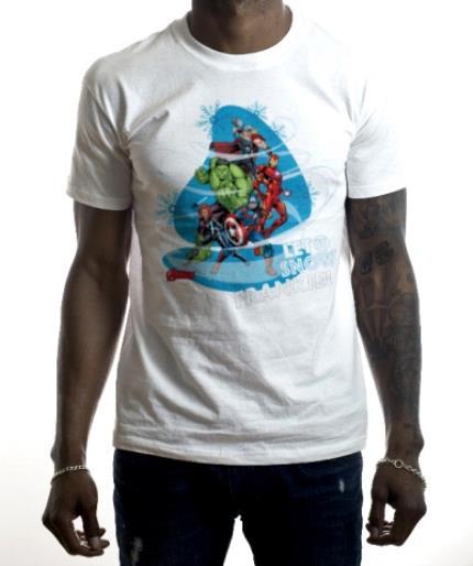 T-Shirts - Marvel The Avengers Let It Snow Custom T-Shirt - Image 2