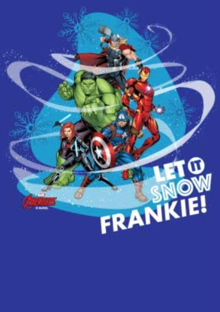 T-Shirts - Marvel The Avengers Let It Snow Custom T-Shirt - Image 4