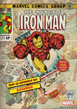 Greeting Cards - Iron Man Birthday Card - Image 1