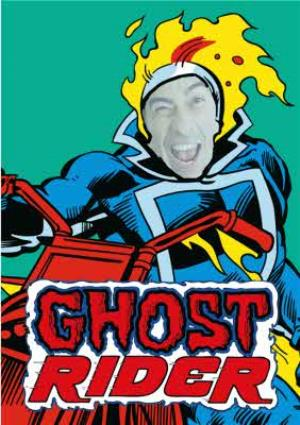 Greeting Cards - Marvel Ghost Rider Face Upload Card - Image 1