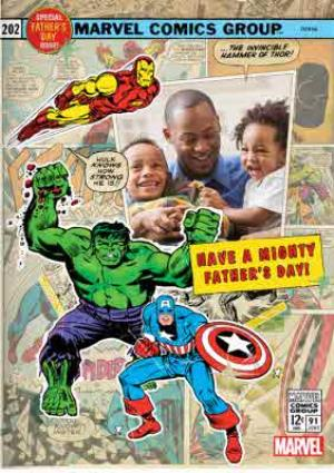 Greeting Cards - Marvel Action Heroes Father's Day Photo Card - Image 1