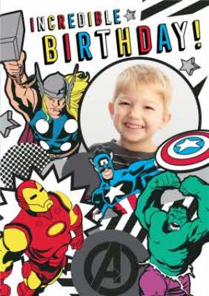 Greeting Cards - Marvel Comics Incredible Birthday photo upload card - Image 1