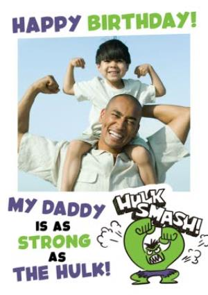 Greeting Cards - Hulk Smash - Birthday Card for Dad - Photo upload - Image 1