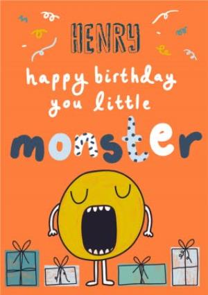 Greeting Cards - Little Monster Birthday Card - Image 1