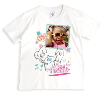 T-Shirts - Tatty Teddy Smile, Hello, and Star Print Photo Upload T-Shirt - Image 1