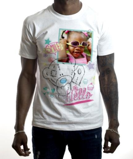 T-Shirts - Tatty Teddy Smile, Hello, and Star Print Photo Upload T-Shirt - Image 2