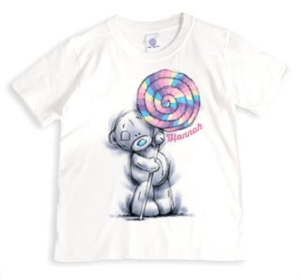 T-Shirts - Tatty Teddy Lollipop Personalised Name T-Shirt - Image 1