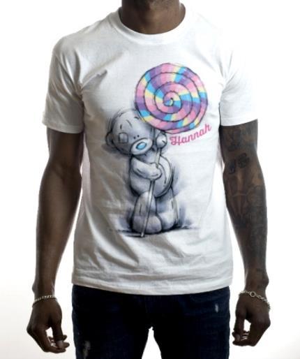 T-Shirts - Tatty Teddy Lollipop Personalised Name T-Shirt - Image 2