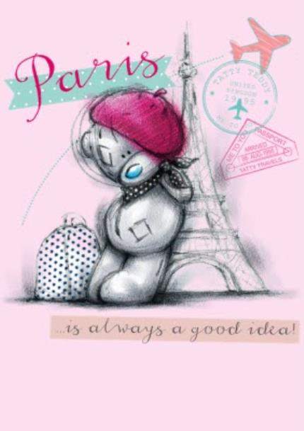 T-Shirts - Tatty Teddy in Paris T-Shirt - Image 4