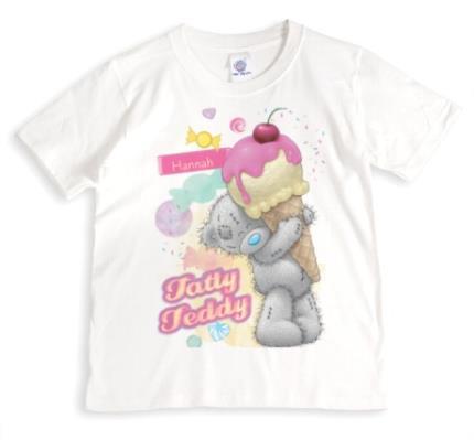 T-Shirts - Tatty Teddy Ice Cream Personalised Name T-Shirt - Image 1