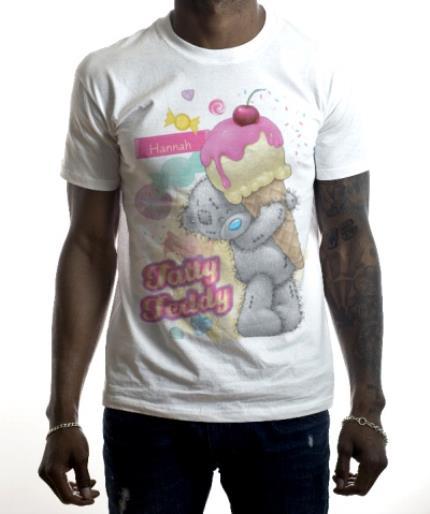 T-Shirts - Tatty Teddy Ice Cream Personalised Name T-Shirt - Image 2