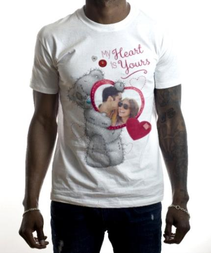 T-Shirts - Valentine's Day Tatty Teddy My Heart is Yours Photo Upload T-Shirt - Image 2