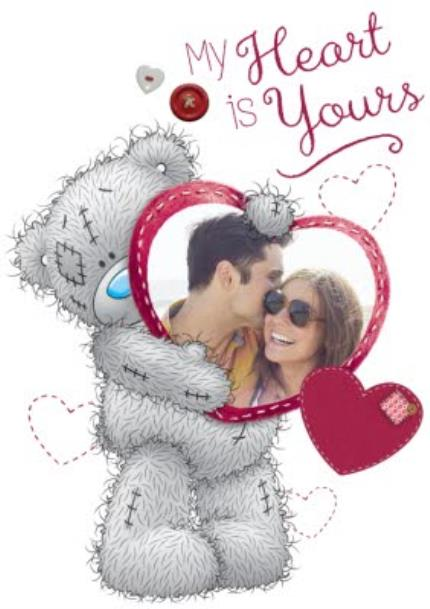 T-Shirts - Valentine's Day Tatty Teddy My Heart is Yours Photo Upload T-Shirt - Image 4