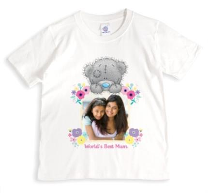 T-Shirts - Tatty Teddy The World's Best Mum Photo T-Shirt - Image 1