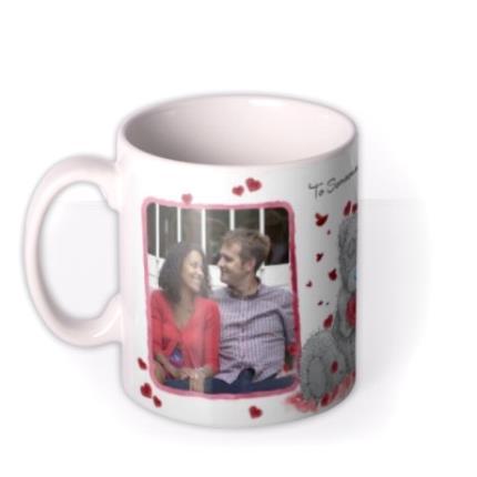 Mugs - Valentines Day Tatty Teddy Heart Shaped Rose Photo Upload Mug - Image 1