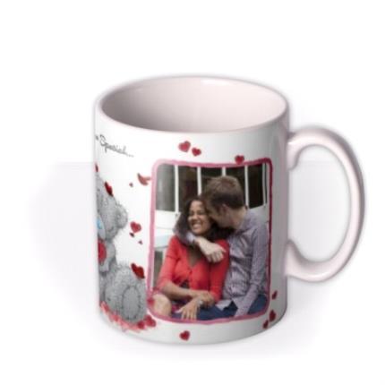 Mugs - Valentines Day Tatty Teddy Heart Shaped Rose Photo Upload Mug - Image 2