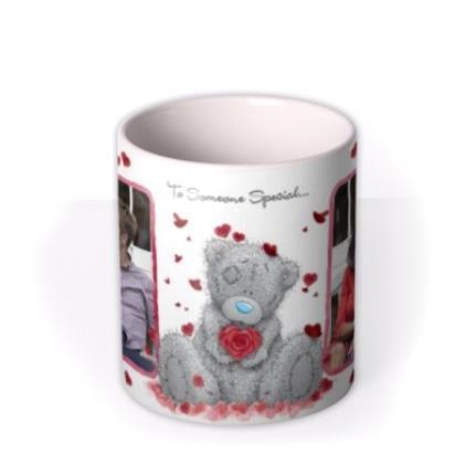 Mugs - Valentines Day Tatty Teddy Heart Shaped Rose Photo Upload Mug - Image 3