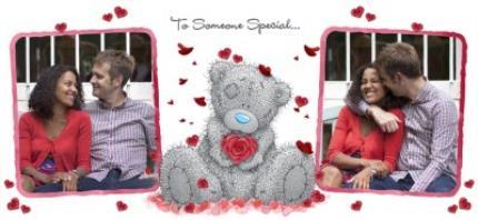Mugs - Valentines Day Tatty Teddy Heart Shaped Rose Photo Upload Mug - Image 4