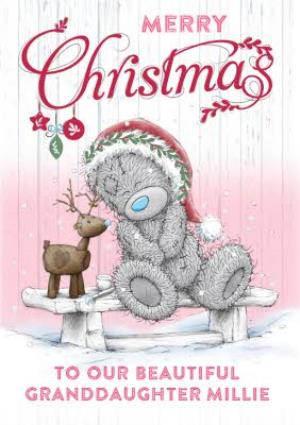 Greeting Cards - Me To You Tatty Teddy Merry Christmas Granddaughter Card - Image 1