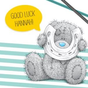 Greeting Cards - Me To You Tatty Teddy Striped Personalised Good Luck Card - Image 1