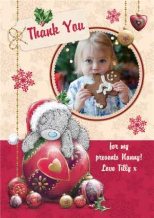 Greeting Cards - Me To You Tatty Teddy Thank You For My Christmas Presents Photo Card - Image 1