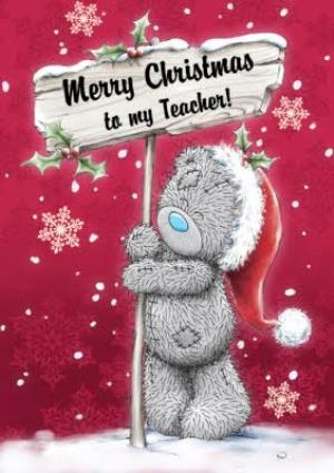 Greeting Cards - Me To You Tatty Teddy Merry Christmas Teacher Card - Image 1