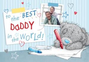 Greeting Cards - Me To You Tatty Teddy To The Best Daddy In The World Photo Card - Image 1
