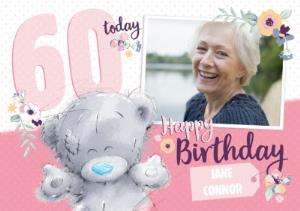Greeting Cards - Me To You Tatty Teddy Happy 60Th Birthday Photo Card - Image 1
